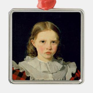 Portrait d'Adolphine Kobke le 19 juin 1832 Ornement Carré Argenté