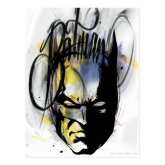 Portrait d'aerographe de Batman Cartes Postales