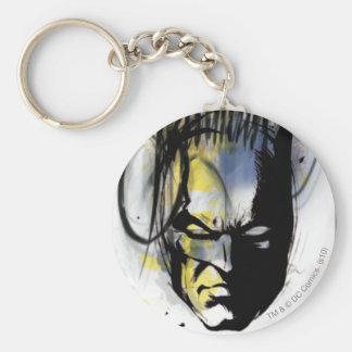 Portrait d'aerographe de Batman Porte-clé Rond