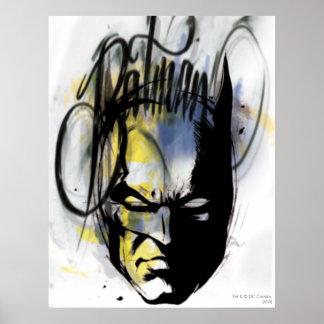 Portrait d'aerographe de Batman Posters