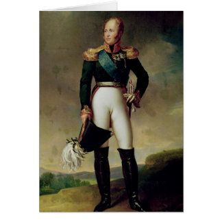 Portrait d'Alexandre I 1814 Cartes