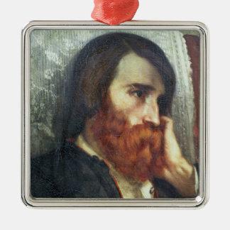 Portrait d'Alfred Bruyas Ornement Carré Argenté