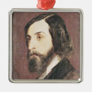 Portrait d'Alfred de Musset Ornement Carré Argenté