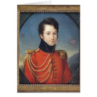Portrait d'Alfred de Vigny Carte De Vœux