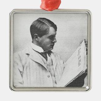 Portrait d'Alfred Harmsworth, 1897 Ornement Carré Argenté