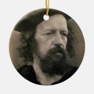 Portrait d'Alfred, seigneur Tennyson (1809-92) Ornement Rond En Céramique