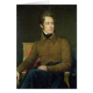 Portrait d'Alphonse de Lamartine, 1831 Carte De Vœux