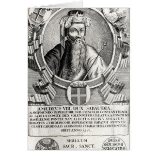 Portrait d'Amedee VIII Le Pacifique Carte De Vœux