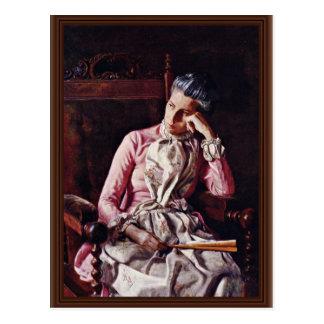 Portrait d'Amelia Van Buren par Thomas Eakins ( Carte Postale