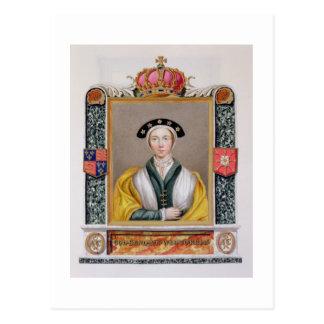 Portrait d'Anne de 1515-57) 4èmes reines de Cleves Carte Postale