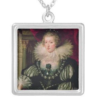 Portrait d'Anne d'Infanta de l'Autriche de l'Espag Pendentif Carré