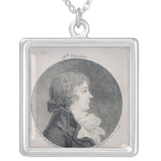 Portrait d'Anne-Josephe Trewagne Pendentif Carré