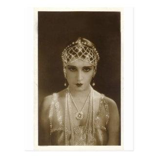 Portrait d'années '20 cartes postales