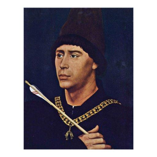 Portrait d'Anthony de Bourgogne Grossbastard Tract