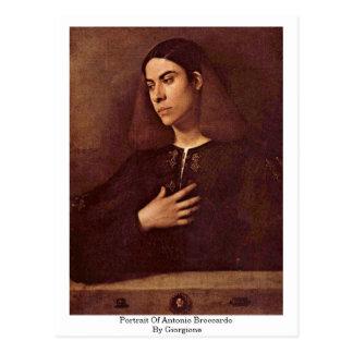 Portrait d'Antonio Broccardo par Giorgione Carte Postale