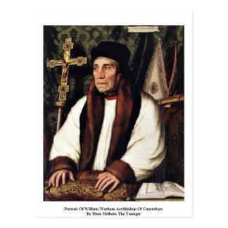 Portrait d'archevêque de William Warham Carte Postale