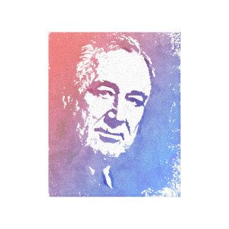 Portrait d'art de bruit de FDR en rouge et bleu Toiles