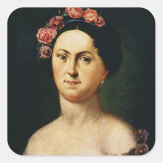 Portrait d'Avdotia Istomina, 1830s Autocollant Carré