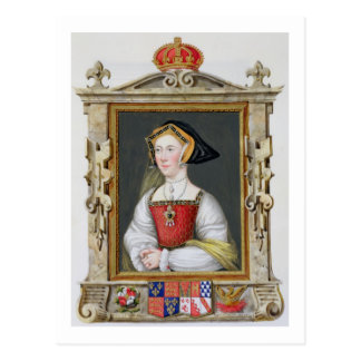 Portrait de 3ème reine de Jane Seymour (c.1509-37) Carte Postale