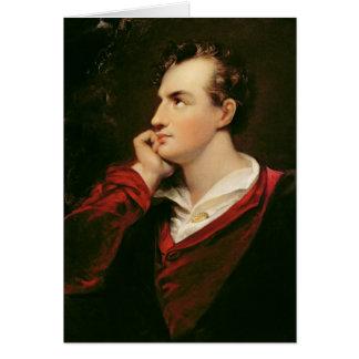 Portrait de 6ème baron de George Gordon Byron Carte De Vœux