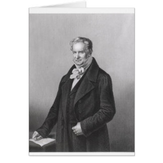 Portrait de baron Alexander von Humboldt Carte De Vœux