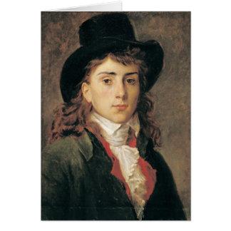 Portrait de baron Antoine Jean Gros âgé 20 Carte De Vœux
