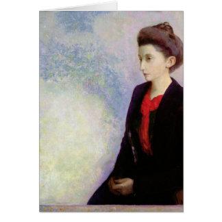 Portrait de baronne Robert de Domecy, 1900 Carte De Vœux