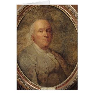 Portrait de Benjamin Franklin, c.1780 Carte De Vœux