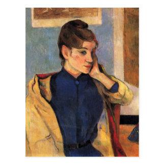 Portrait de bernard de Madeline - Paul Gauguin Carte Postale