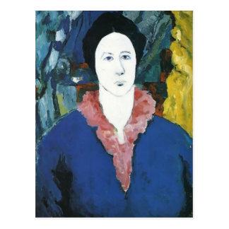 Portrait de bleu de Kazimir Malevich- Carte Postale