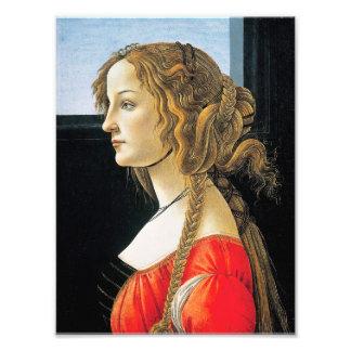 Portrait de Botticelli d'une jeune femme Photos