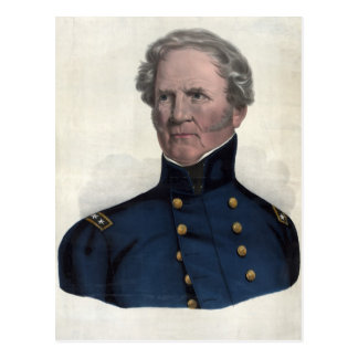 Portrait de carte postale de Winfield Scott