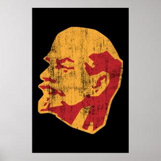 portrait de cccp de Vladimir Lénine Poster