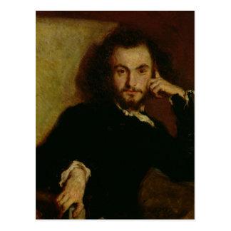 Portrait de Charles Baudelaire 1844 Carte Postale