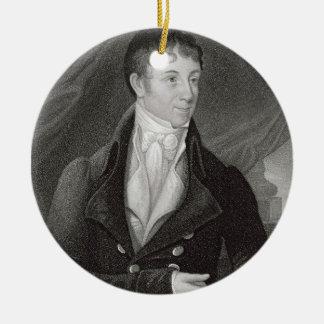 Portrait de Charles Brockden Brown (1771-1810), en Ornement Rond En Céramique