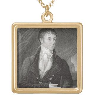 Portrait de Charles Brockden Brown (1771-1810), en Pendentif Carré