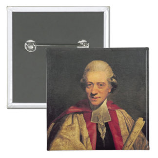 Portrait de Charles Burney, c.1781 Badge Carré 5 Cm