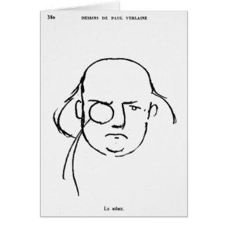 Portrait de Charles Leconte de Lisle Carte De Vœux