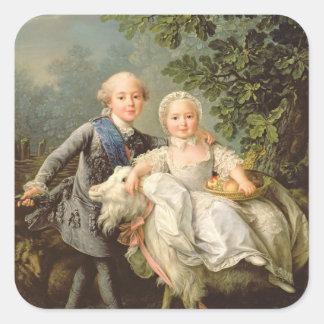 Portrait de Charles Philippe de la France Stickers Carrés