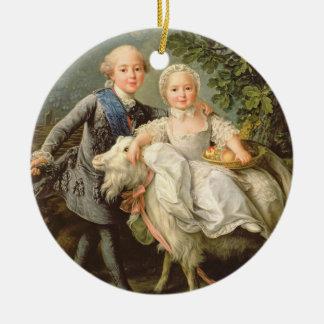 Portrait de Charles Philippe de la France Ornement Rond En Céramique