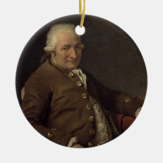 Portrait de Charles-Pierre Pecoul, 1784 (huile sur Ornement Rond En Céramique