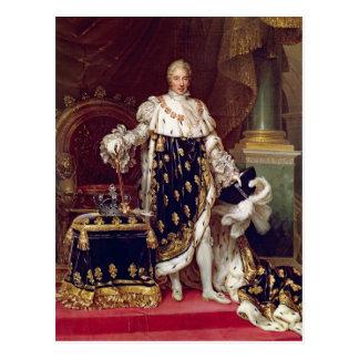 Portrait de Charles X dans des robes longues de Carte Postale