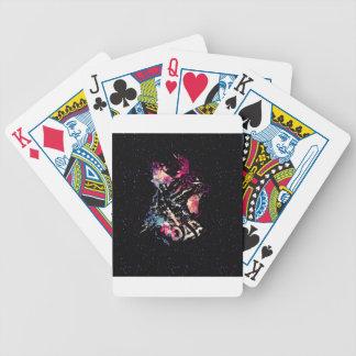 Portrait de chat de l'espace jeu de poker