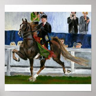 Portrait de cheval de Saddlebred d'Américain Affiche
