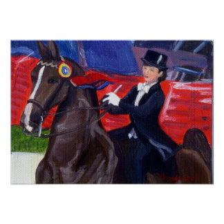 Portrait de cheval de Saddlebred d'Américain de fi Affiches