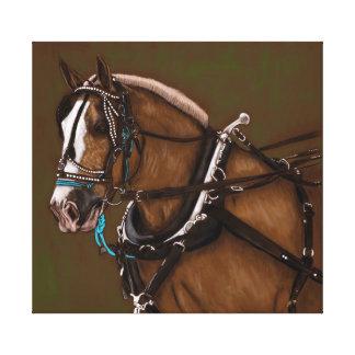Portrait de cheval de trait toile