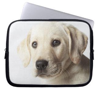 Portrait de chiot blond de labrador retriever housse pour ordinateur portable