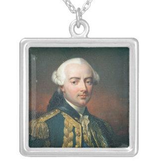 Portrait de compte de Charles Henri d'Estaing Pendentif Carré