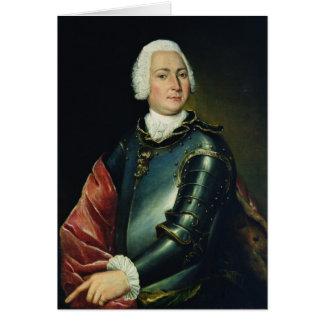 Portrait de compte Ernst Christoph von Manteuffel Carte De Vœux