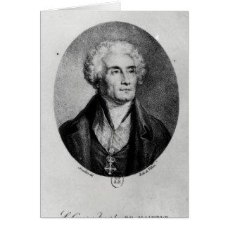 Portrait de compte Joseph de Maistre Carte De Vœux